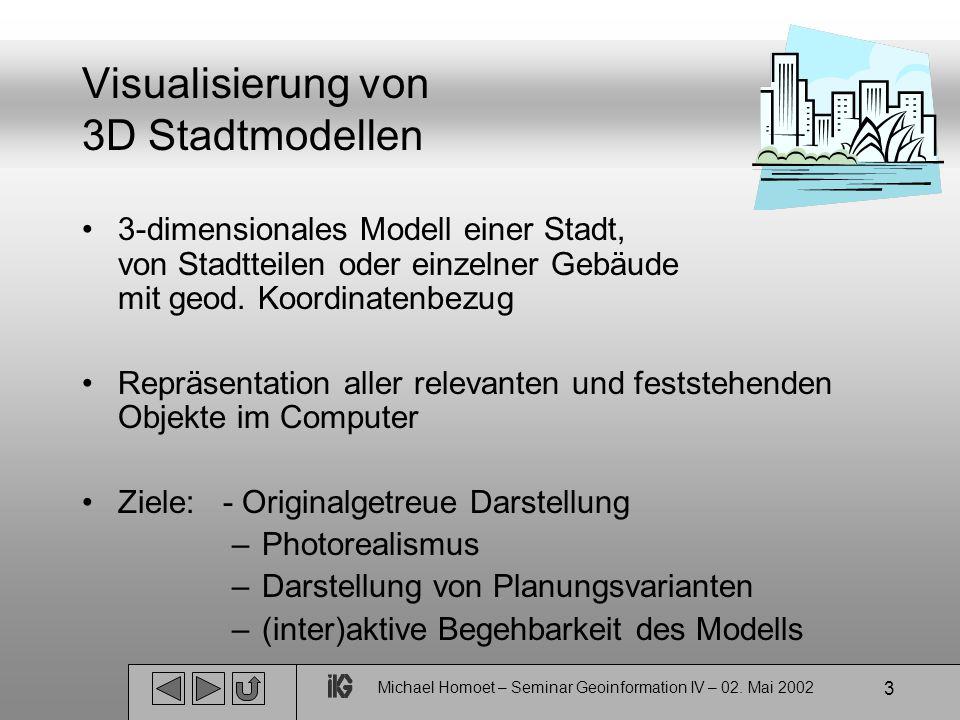 Michael Homoet – Seminar Geoinformation IV – 02.Mai 2002 14 Warum das nicht reicht.