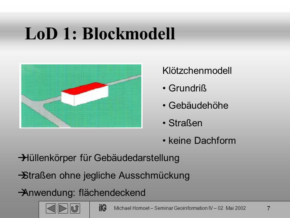 Michael Homoet – Seminar Geoinformation IV – 02. Mai 2002 8