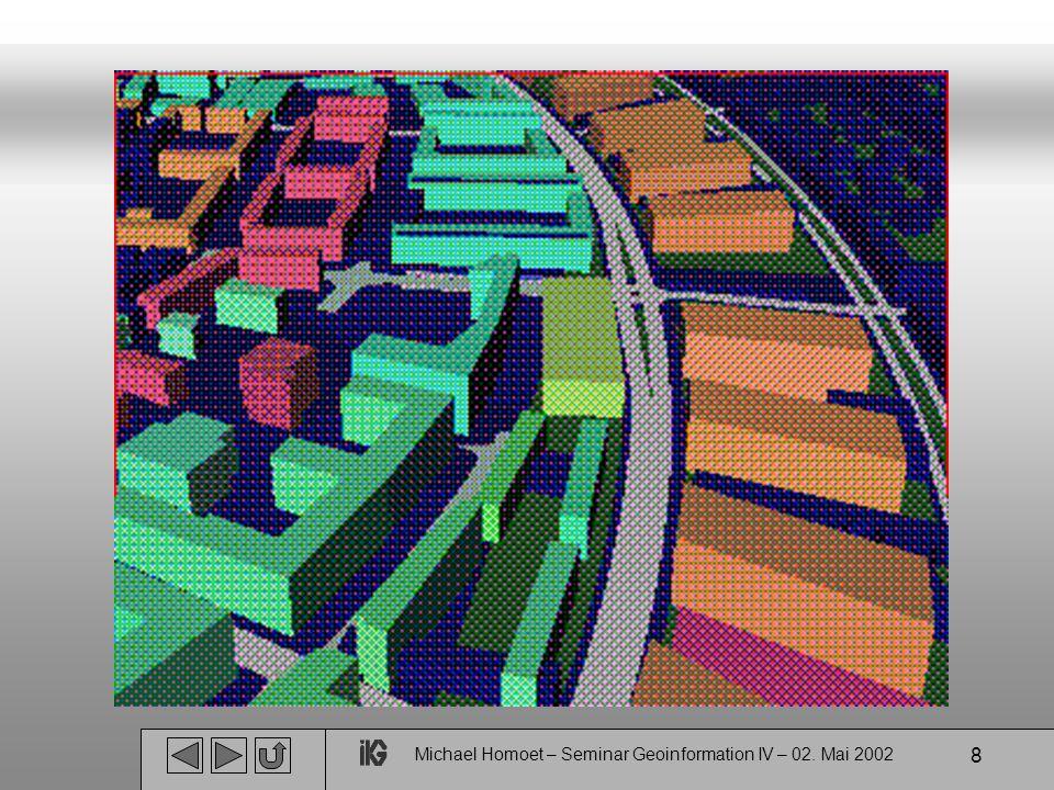 9 LoD 2 : Erweitertes Blockmodell realitätsähnliche Gebäude Firstlinien einfache Fassadentextur Vegetation  Generalisierte Dächer und Hausfassaden  Straßen mit Markierungen und Grünflächen  Anwendung: Stadtteil(e)