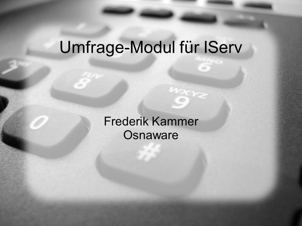 Umfrage-Modul für IServ Frederik Kammer Osnaware