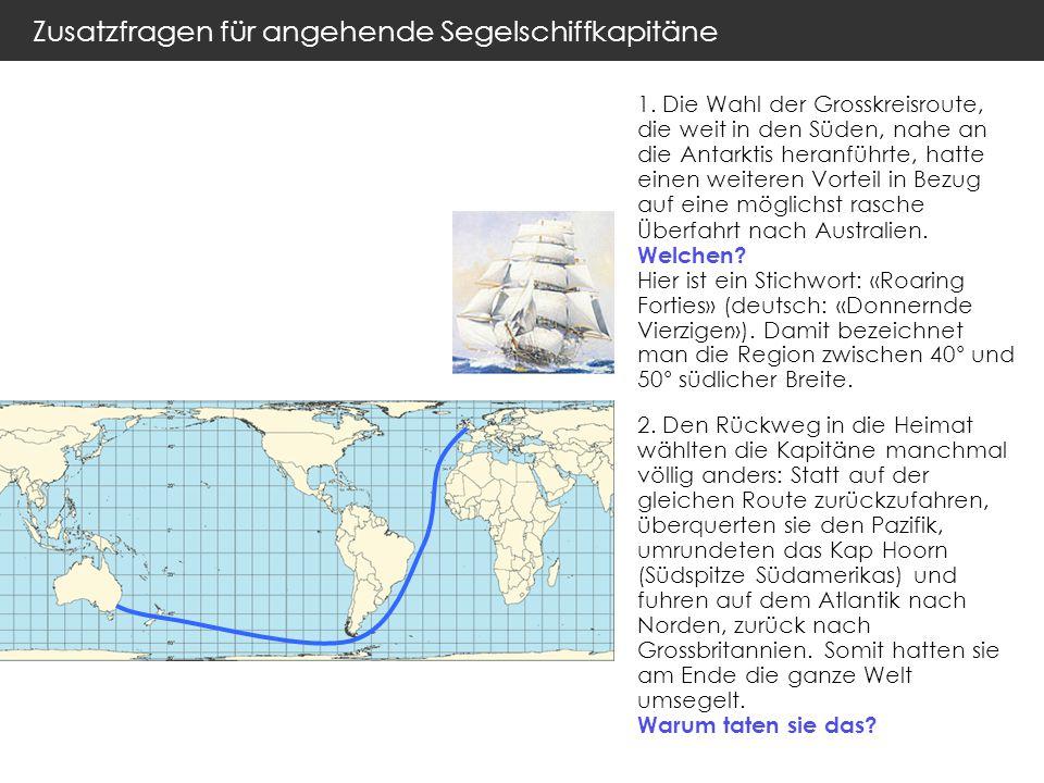 Zusatzfragen für angehende Segelschiffkapitäne 1.