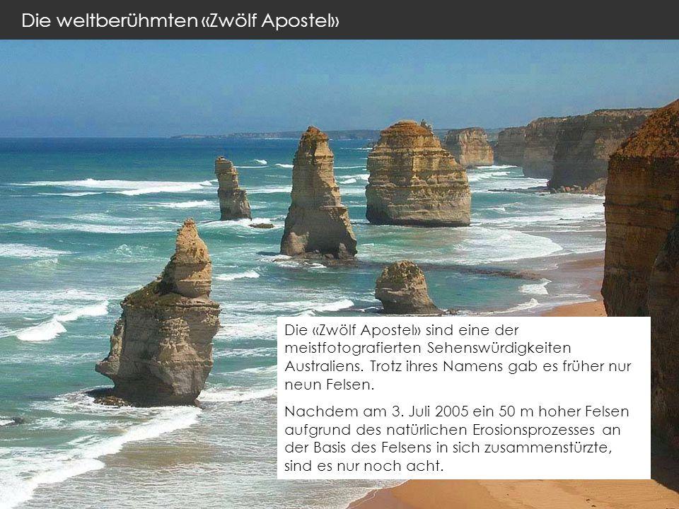 Die weltberühmten «Zwölf Apostel» Die «Zwölf Apostel» sind eine der meistfotografierten Sehenswürdigkeiten Australiens.