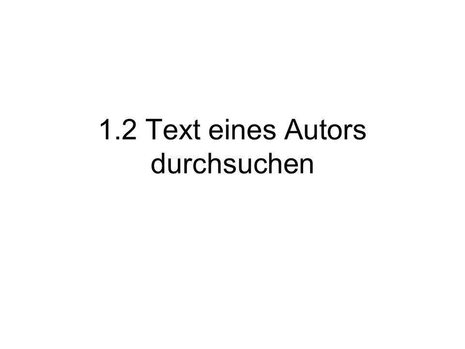 1.2 Text eines Autors durchsuchen