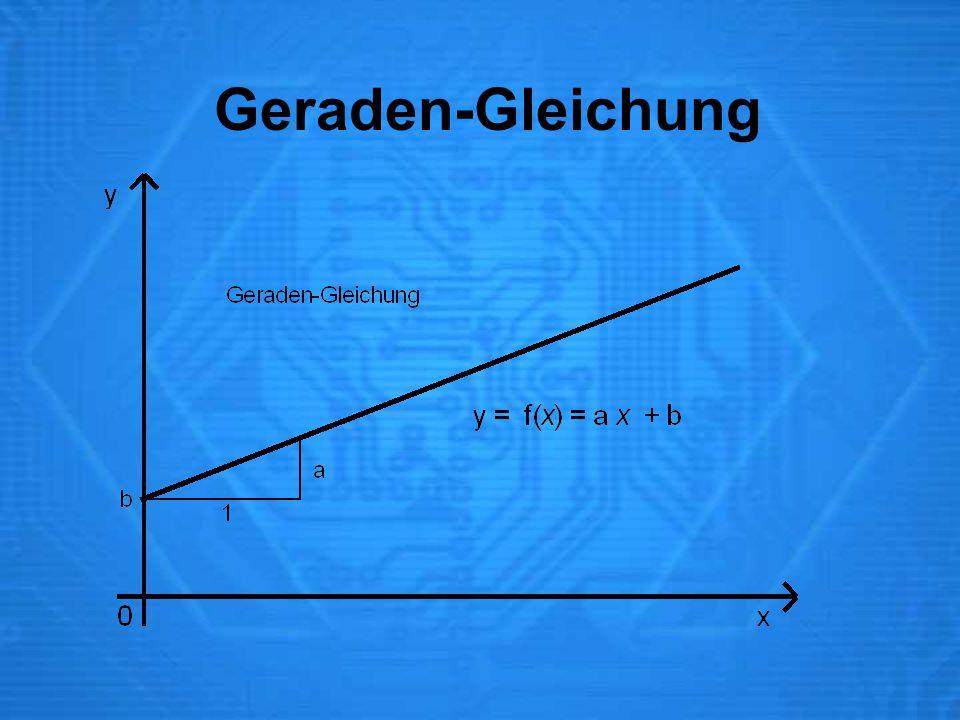 Geraden-Gleichung