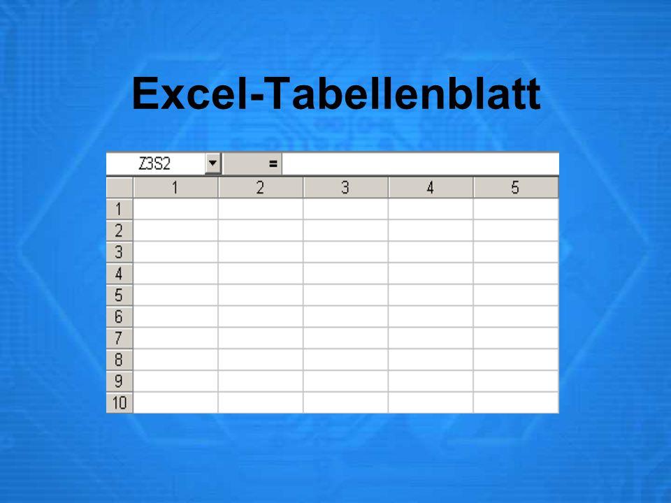 Excel-Tabellenblatt