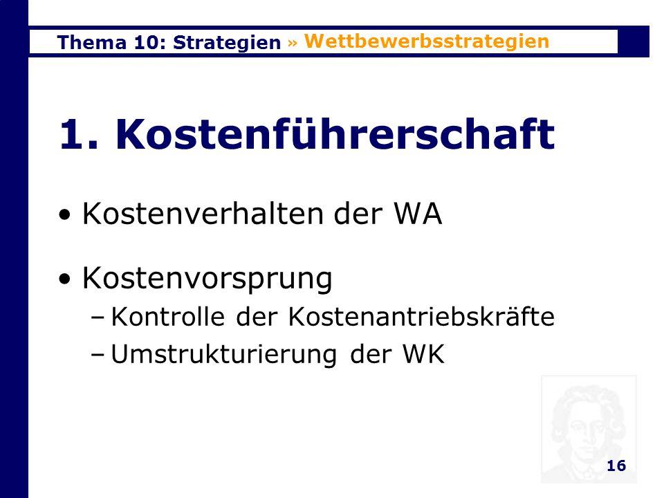 Thema 10: Strategien 17 2.