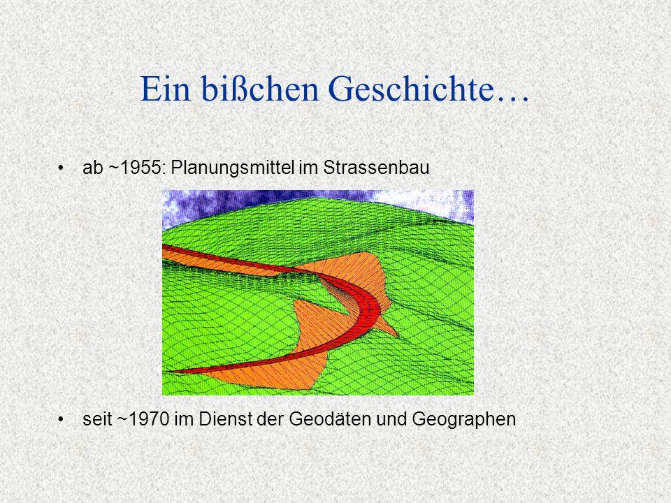 Ein bißchen Geschichte… seit ~1970 im Dienst der Geodäten und Geographen ab ~1955: Planungsmittel im Strassenbau