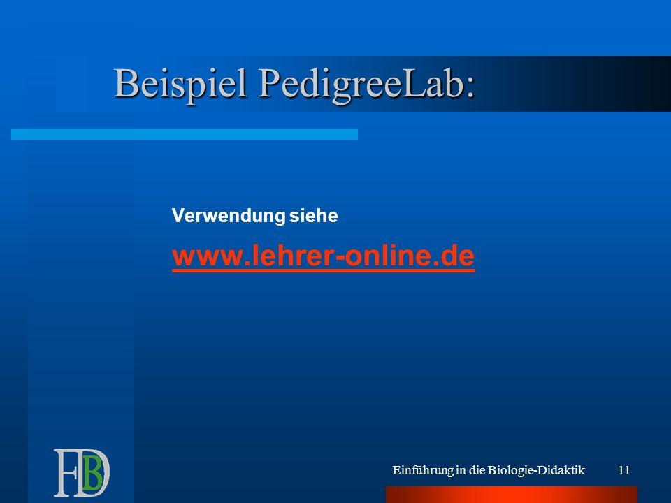 Einführung in die Biologie-Didaktik10 Alternativen Tafel, Heft, Folie ohne AB Schulbuch mündliche Anweisungen / Infos authentisches Material Computer u.U.