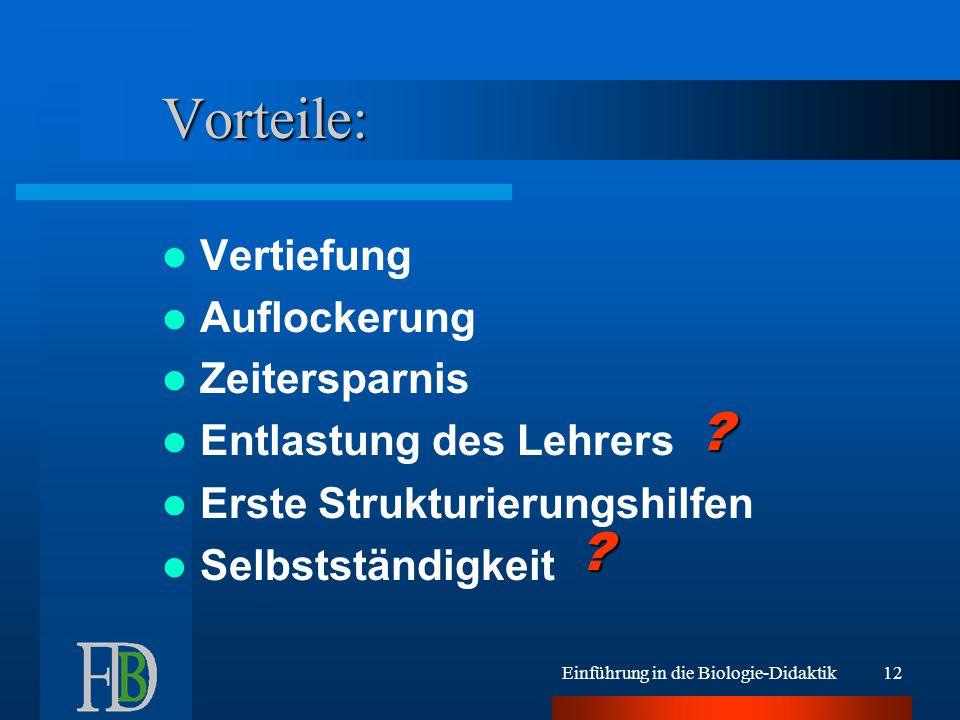Einführung in die Biologie-Didaktik11 Beispiel PedigreeLab: Verwendung siehe www.lehrer-online.de