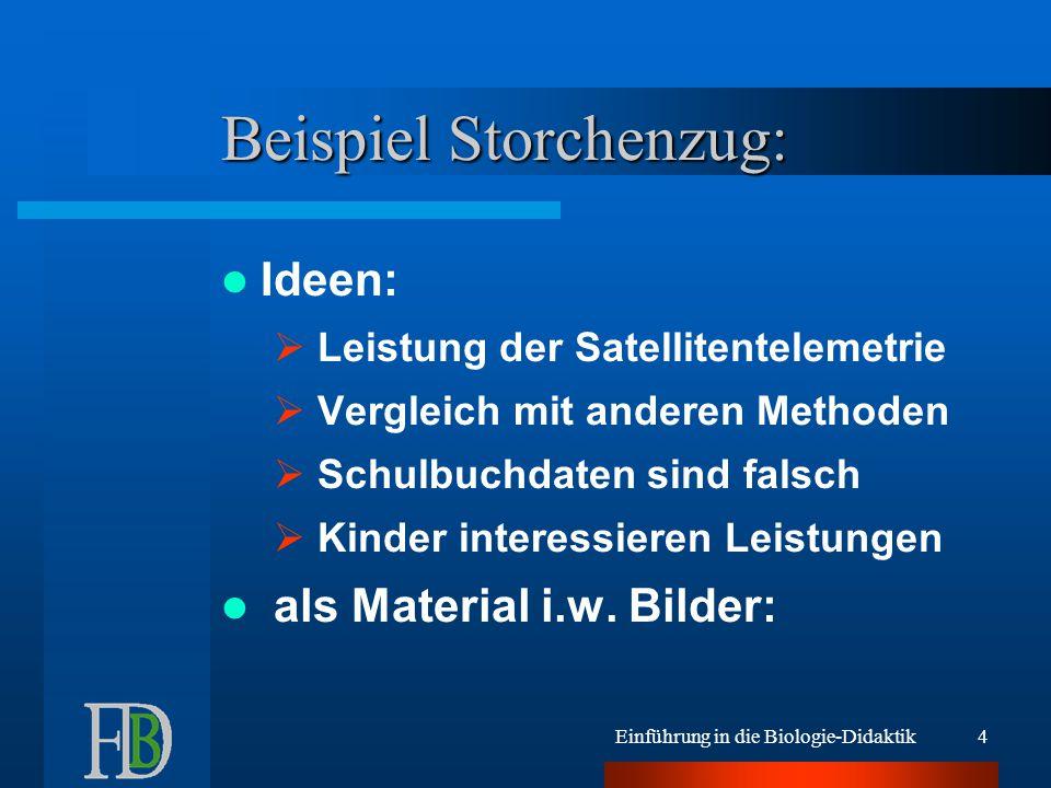 Einführung in die Biologie-Didaktik14 Vorschläge zur Verwendung: klare Gliederung .