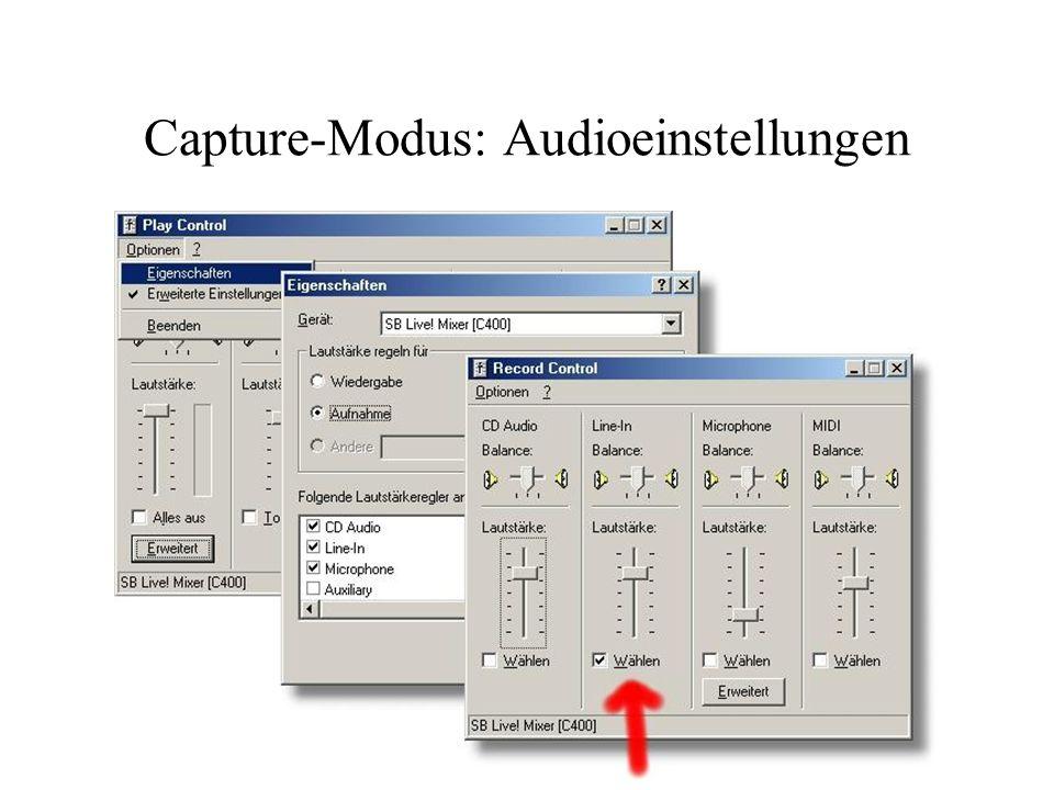 Capture-Modus: Audio-Compression