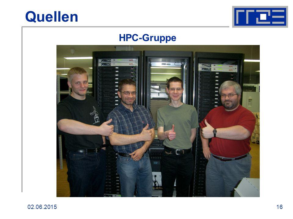 02.06.201516 Quellen HPC-Gruppe