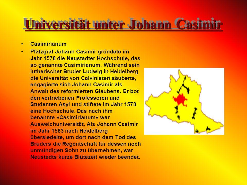 Die Reformationszeit Während der Reformation regierte in der Pfalz bis 1544 der um Ausgleich bemühte Ludwig V., der Friedfertige. Sein Religionsedikt
