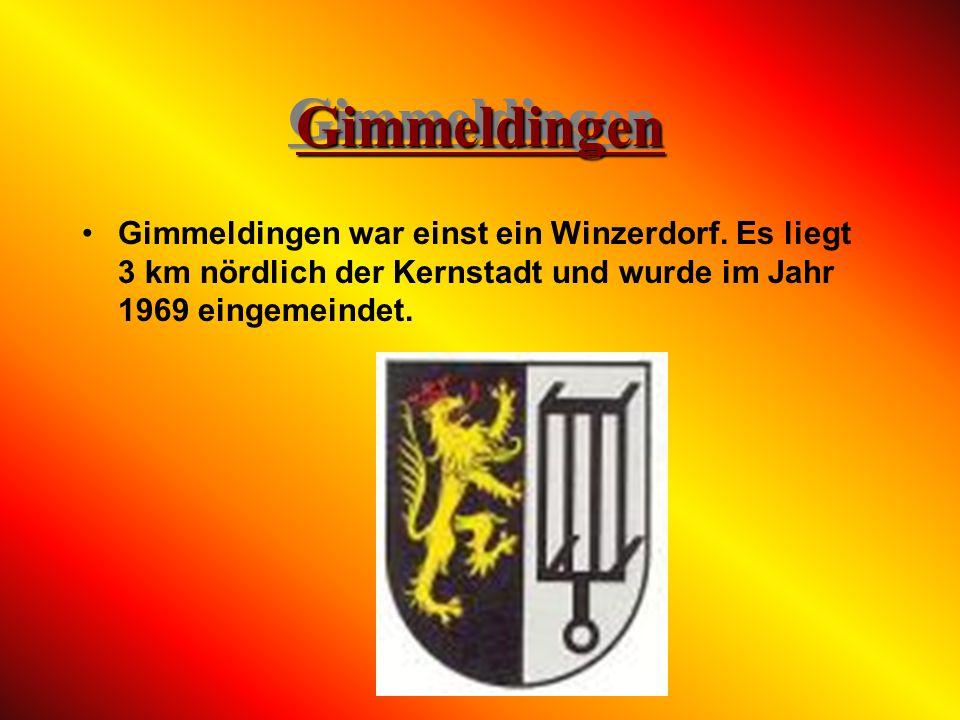 Geinsheim Das Dorf Geinsheim ist am weitesten vom Stadtkern entfernt. Es liegt 10 km südöstlich der Kernstadt und wurde im Jahr 1969 eingemeindet.