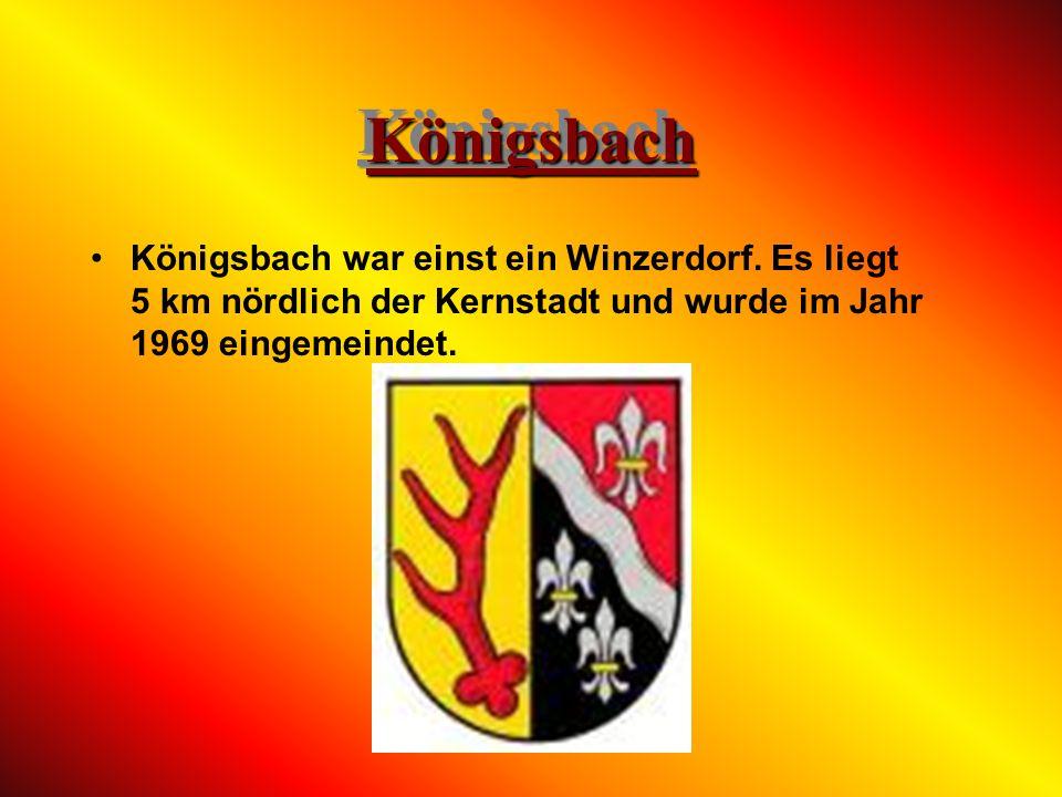 HambachHambach Hambach war einst ein Winzerdorf. Es liegt 2 km südwestlich der Kernstadt und wurde im Jahr 1969 eingemeindet. Bekannt ist der Ort durc