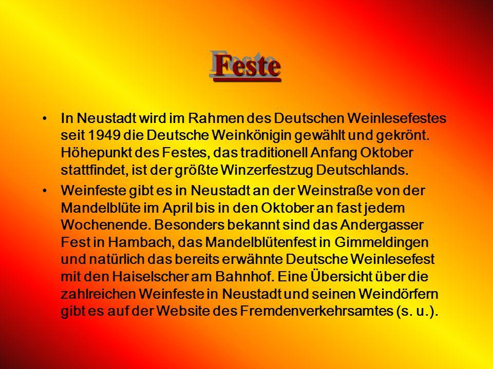 VereineVereine Das Vereinsverzeichnis ist auf der Neustadter Website unter http://www.neustadt- weinstrasse.de/probuerger/public/pr odukt_detail.cfm?p