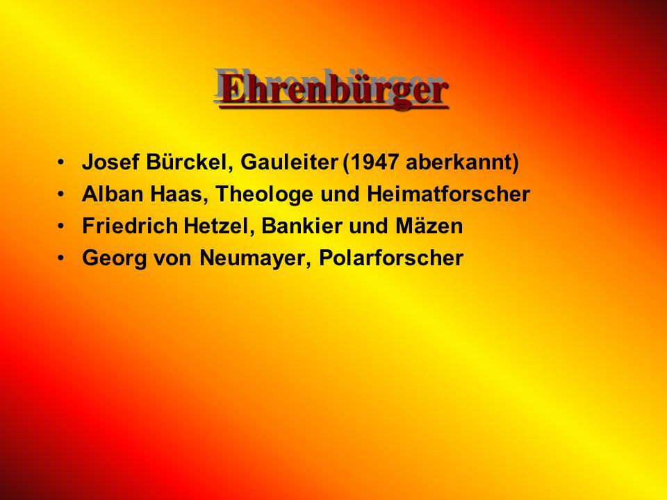 Malu Dreyer, rheinland-pfälzische Ministerin Hans Geiger, Erfinder des Geigerzählers Emil Helfferich, international tätiger Kaufmann Dr. Karl Helfferi
