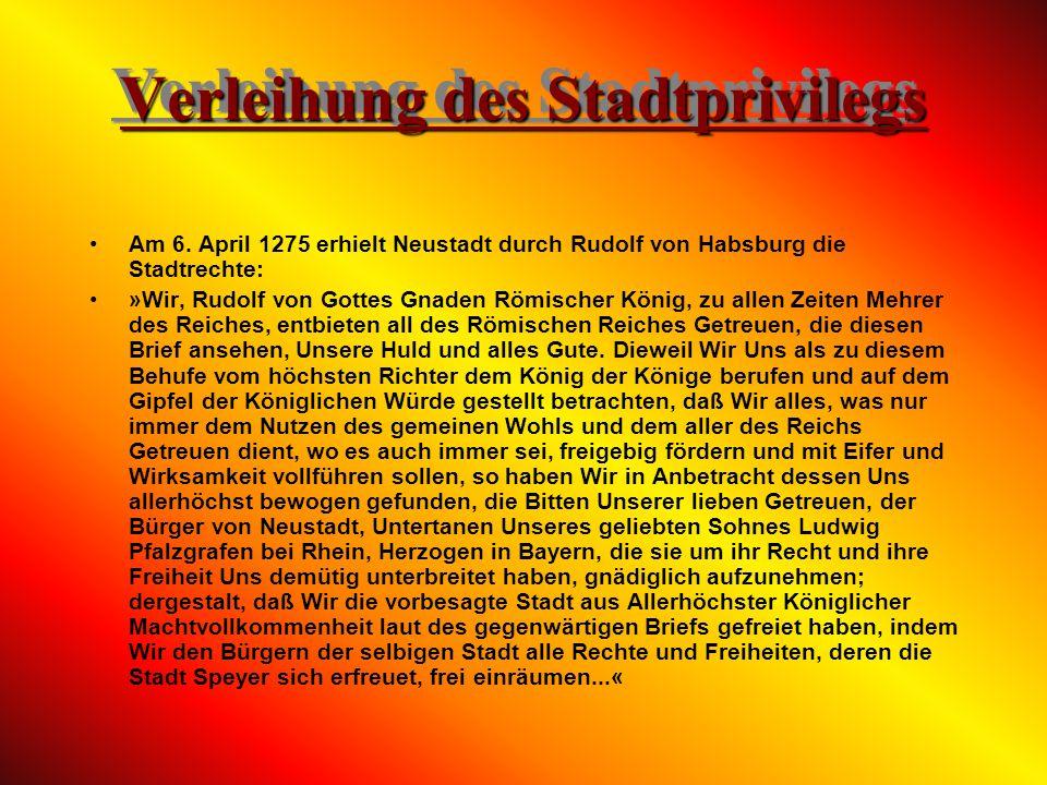 Die frühe Geschichte Neustadt´s Neustadt war sicher zur Zeit der Römer besiedelt. Funde weisen auch darauf hin dass vor den Römern die Kelten auf dem