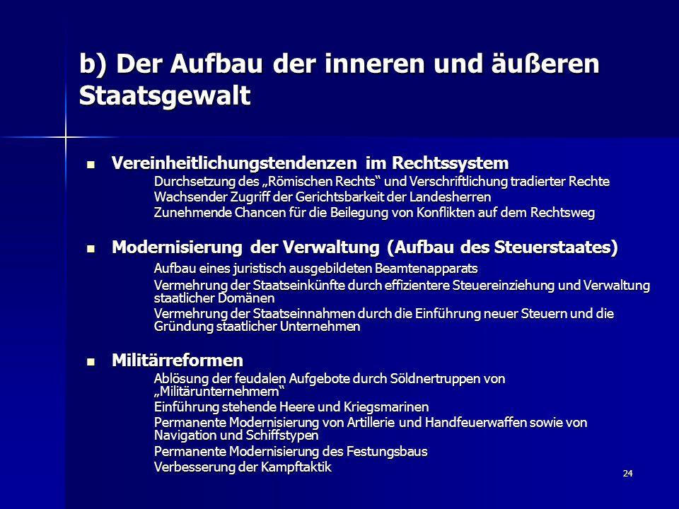 24 b) Der Aufbau der inneren und äußeren Staatsgewalt Vereinheitlichungstendenzen im Rechtssystem Vereinheitlichungstendenzen im Rechtssystem Durchset
