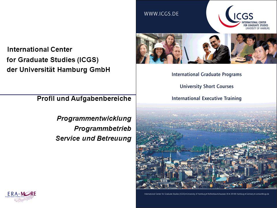 International Center for Graduate Studies (ICGS) der Universität Hamburg GmbH Profil und Aufgabenbereiche Programmentwicklung Programmbetrieb Service