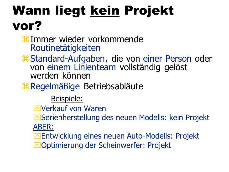 Projektbeispiel: Softwareentwicklung Schlechte Performance *) Quelle: IT Management, 3/2000