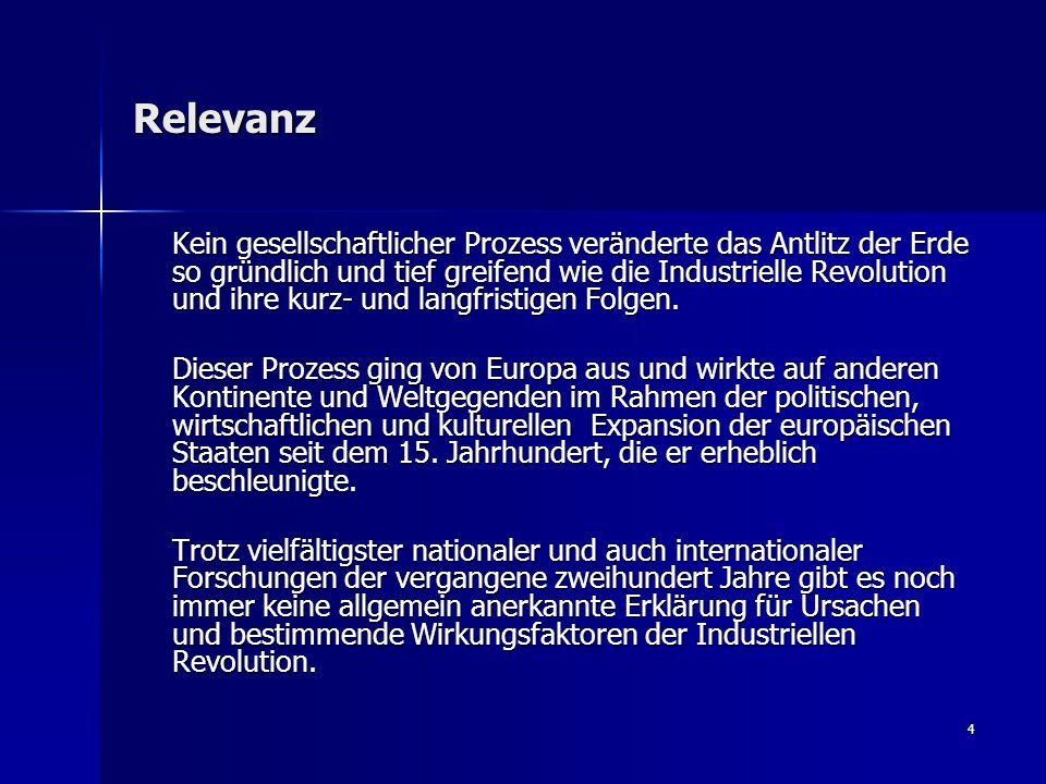 15 3.Sektorale Erklärungsmodelle Wichtige Vertreter: Rainer Fremdling, Nachoem M.