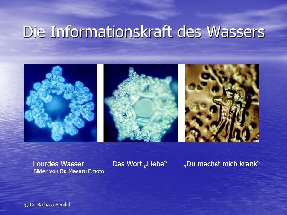 Erinnerungsvermögen des Wassers Kein Wassermolekül gleicht dem anderen und hat eine unverwechselbare Identität Kein Wassermolekül gleicht dem anderen und hat eine unverwechselbare Identität © Dr.