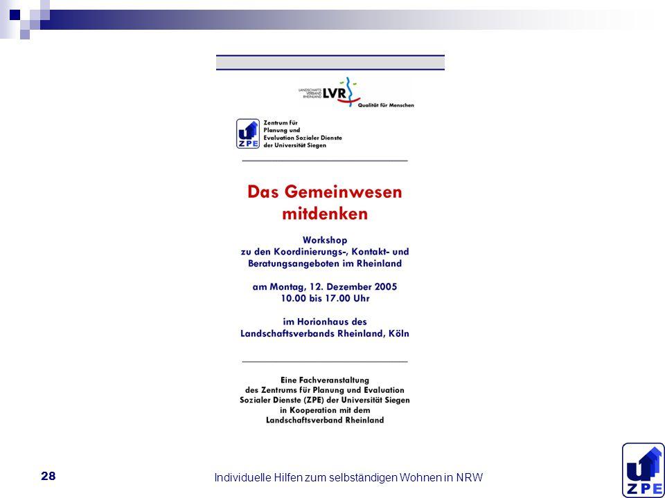 Individuelle Hilfen zum selbständigen Wohnen in NRW 28