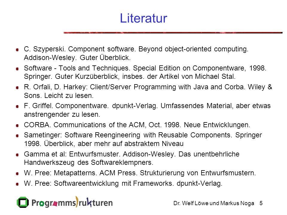 Dr.Welf Löwe und Markus Noga5 Literatur C. Szyperski.