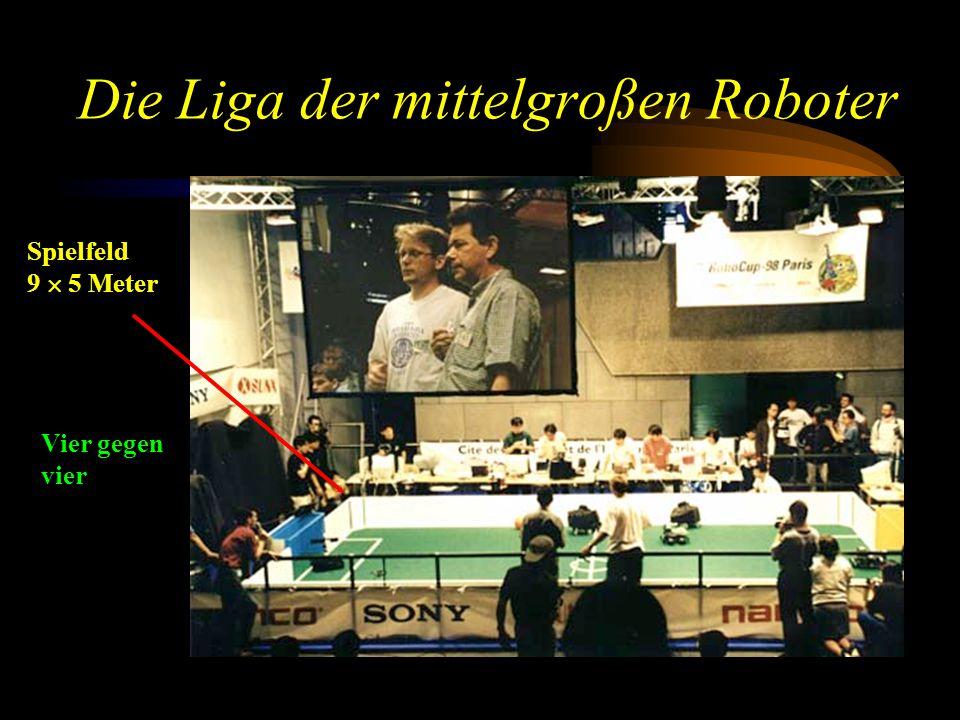 Die Liga der mittelgroßen Roboter Spielfeld 9  5 Meter Vier gegen vier