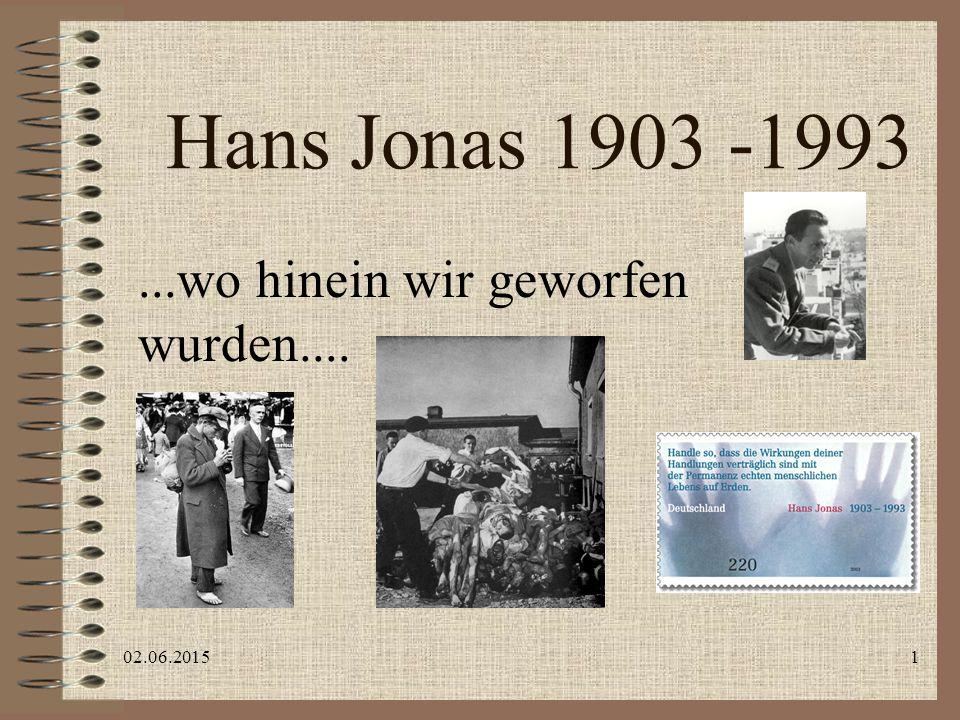 """02.06.20152 Einführung """"Prinzip Veranwortung , 1979 Ungeheure Breitenwirkung, u.a."""