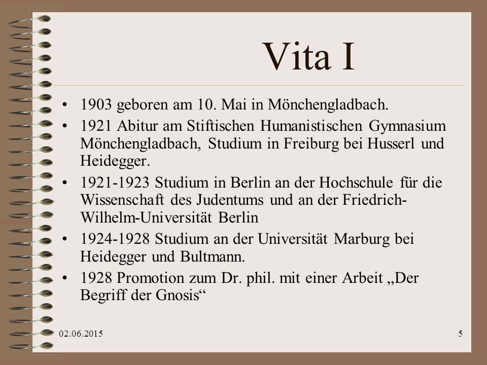 "02.06.20156 Hannah Arendt 1906 - 1975 Karl Löwith 1897- 1973 Herbert Marcuse 1908 -1979 Hans Jonas 1903 -1993 ""Heideggers Kinder"