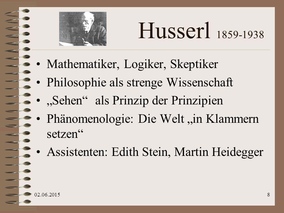 """02.06.20159 Heidegger 1889-1976 Ex-Theologe Analyse des menschlichen In-der-Welt- Seins """"leidenschaftliches Denken (Hannah Arendt) """"Geworfenheit , """"Entschlossenheit """"Die Selbstbehauptung der deutschen Universität , 1933"""