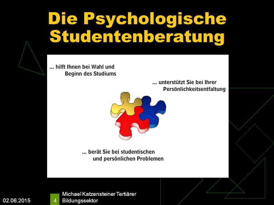 02.06.2015 Michael Katzensteiner Tertiärer Bildungssektor 4 Die Psychologische Studentenberatung