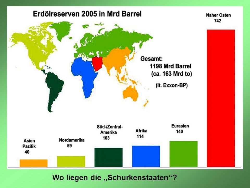 """Wo liegen die """"Schurkenstaaten""""?"""