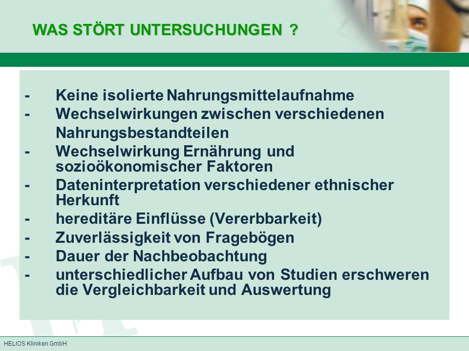 HELIOS Kliniken GmbH -Keine isolierte Nahrungsmittelaufnahme -Wechselwirkungen zwischen verschiedenen Nahrungsbestandteilen -Wechselwirkung Ernährung
