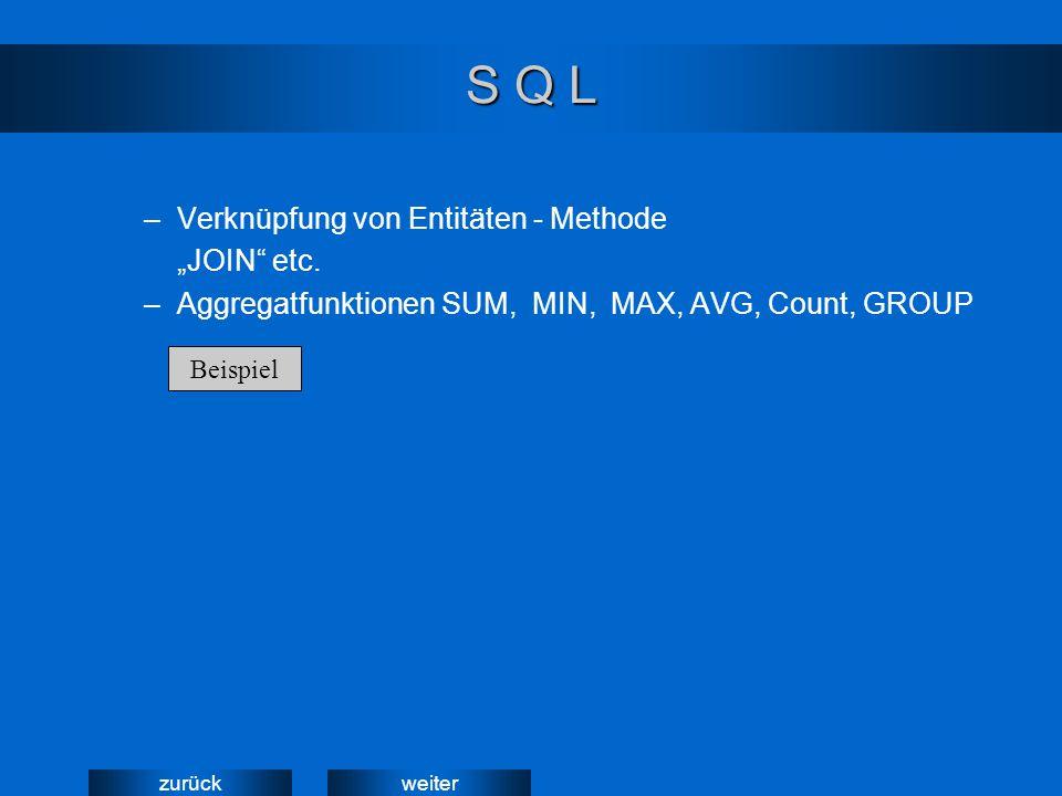 weiterzurück Hilfsmittel für SQL Query by Example (QEB)