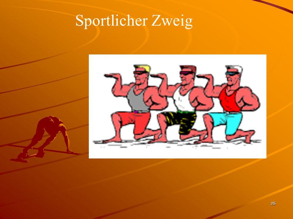 25 Sportlicher Zweig