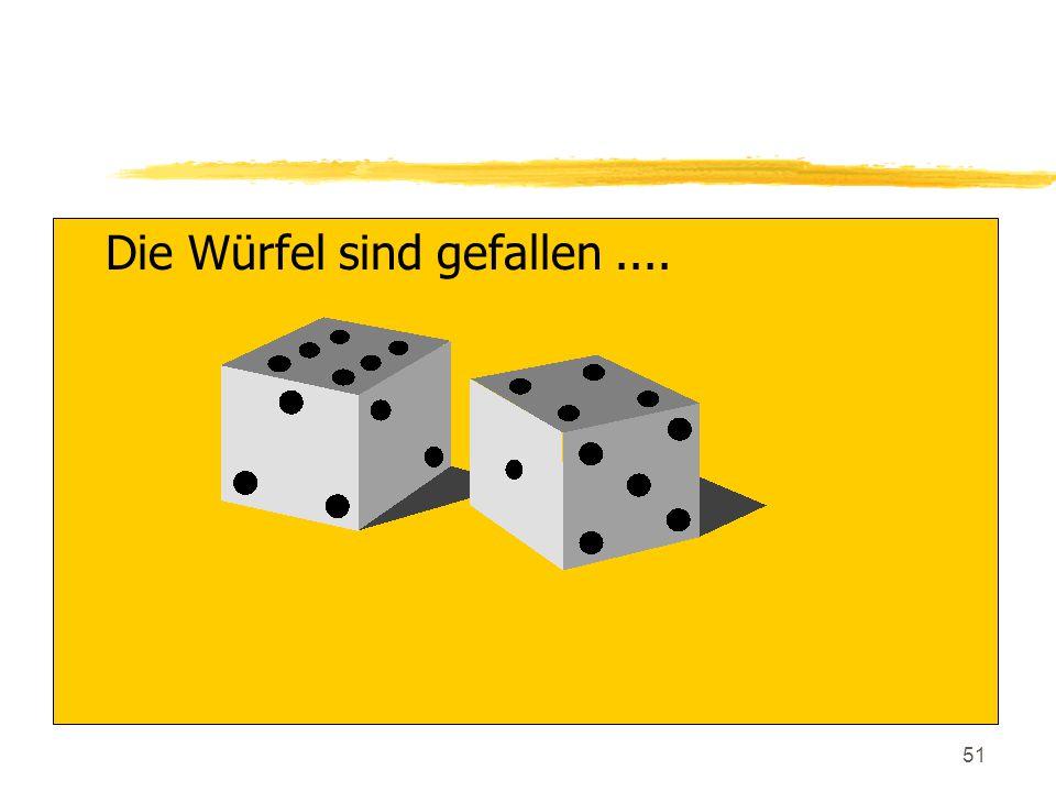 51 zDie Würfel sind gefallen....