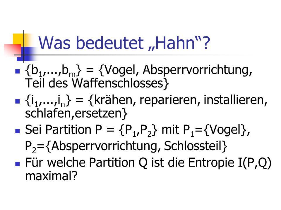 """Was bedeutet """"Hahn ."""