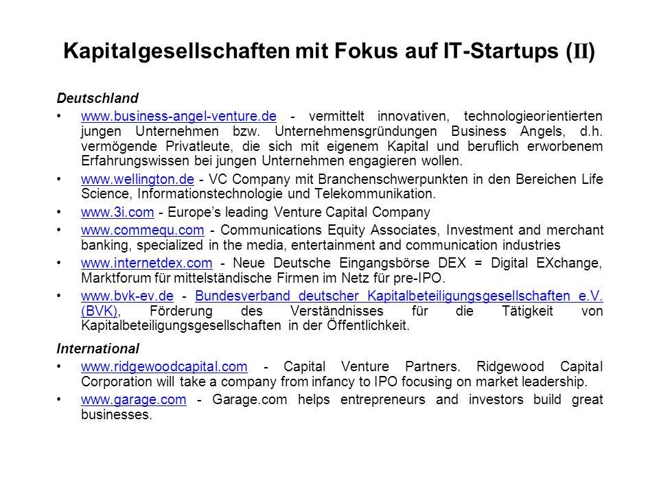 Deutschland www.business-angel-venture.de - vermittelt innovativen, technologieorientierten jungen Unternehmen bzw.