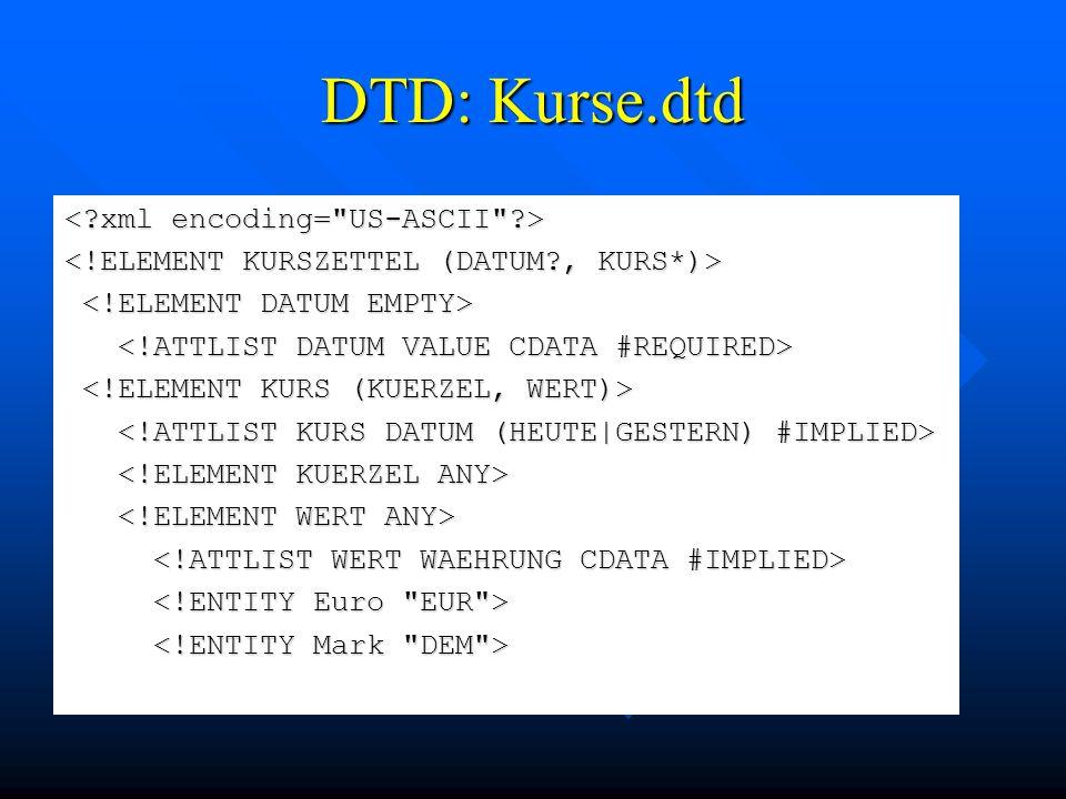 DTD: Kurse.dtd