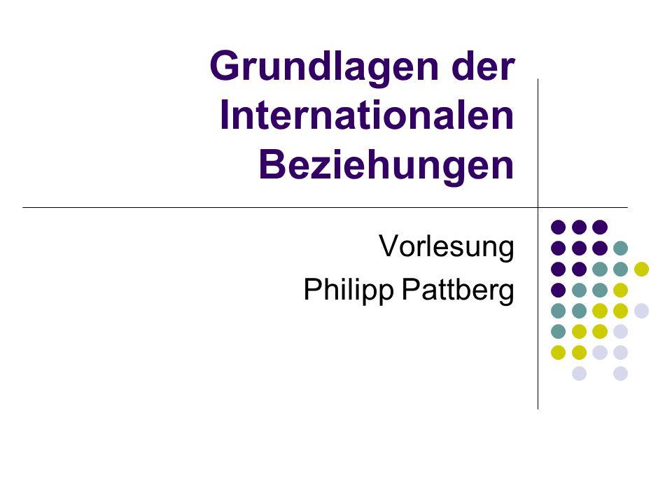 Grundlagen der Internationalen Beziehungen Vorlesung Philipp Pattberg