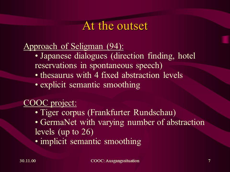30.11.00COOC: Training8 Flow diagram
