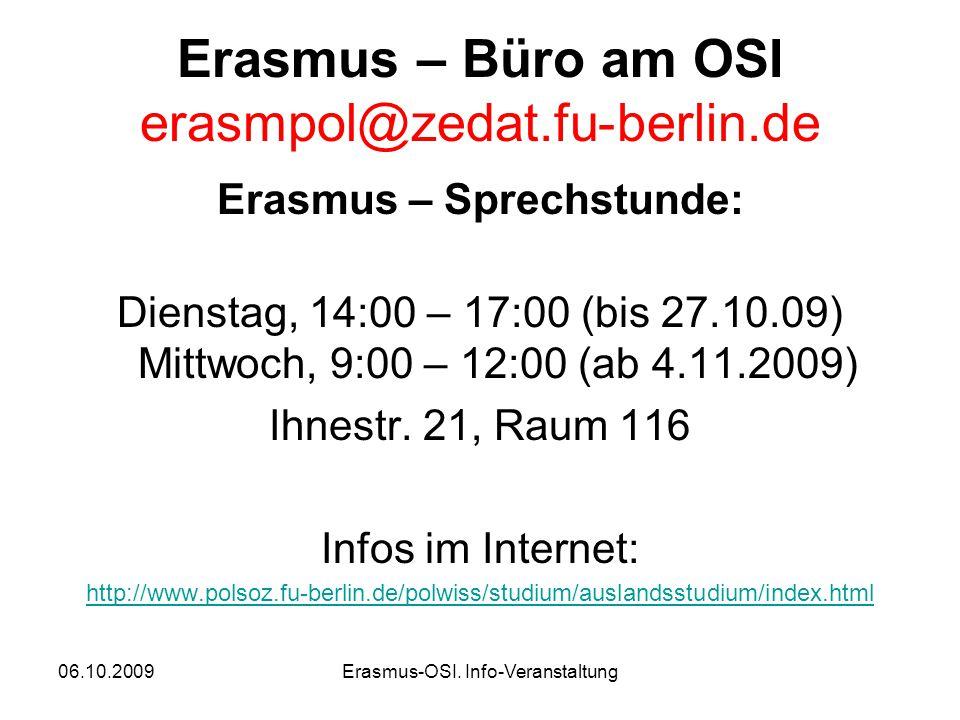 06.10.2009Erasmus-OSI.