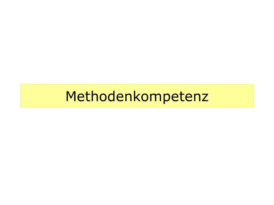 Methodenkompetenz