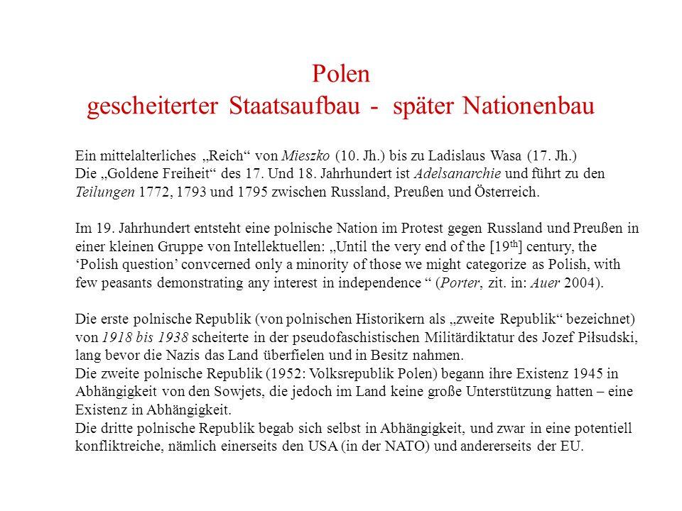 """Polen gescheiterter Staatsaufbau - später Nationenbau Ein mittelalterliches """"Reich von Mieszko (10."""