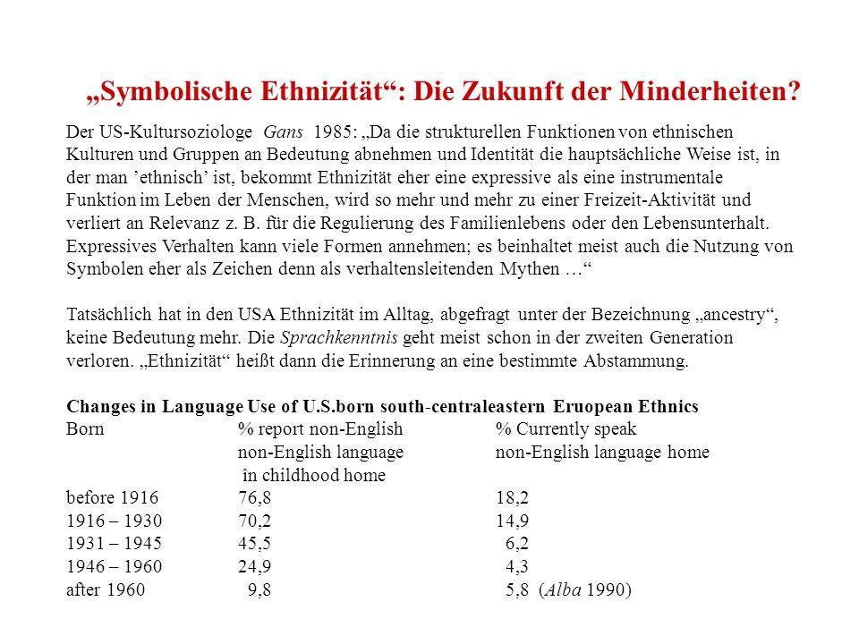 """""""Symbolische Ethnizität : Die Zukunft der Minderheiten."""