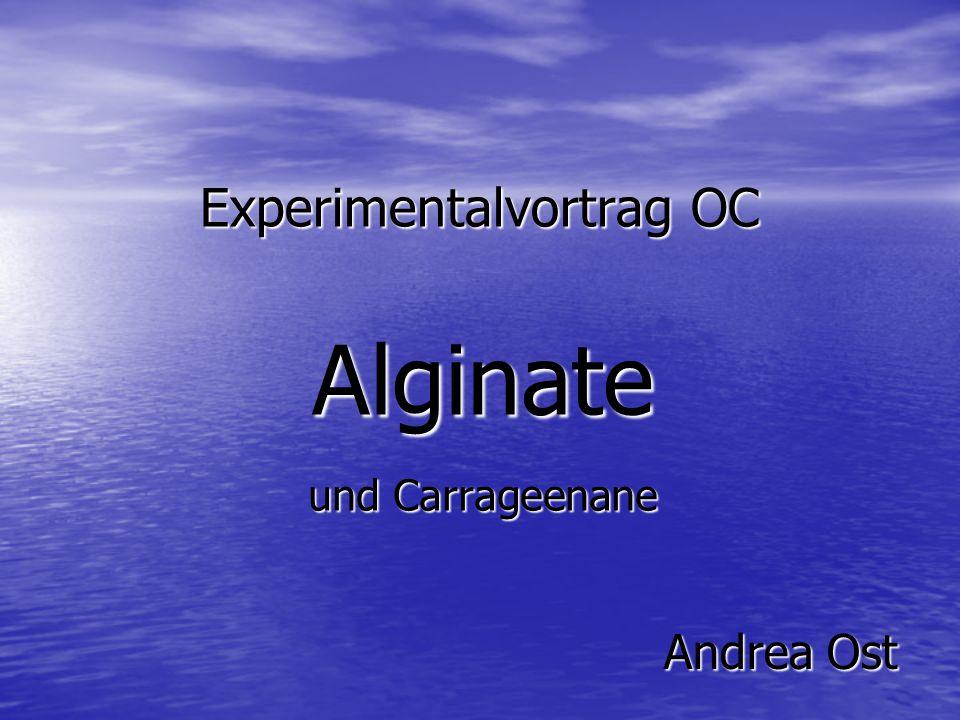 Experimentalvortrag OC Alginate und Carrageenane AndreaOst Andrea Ost