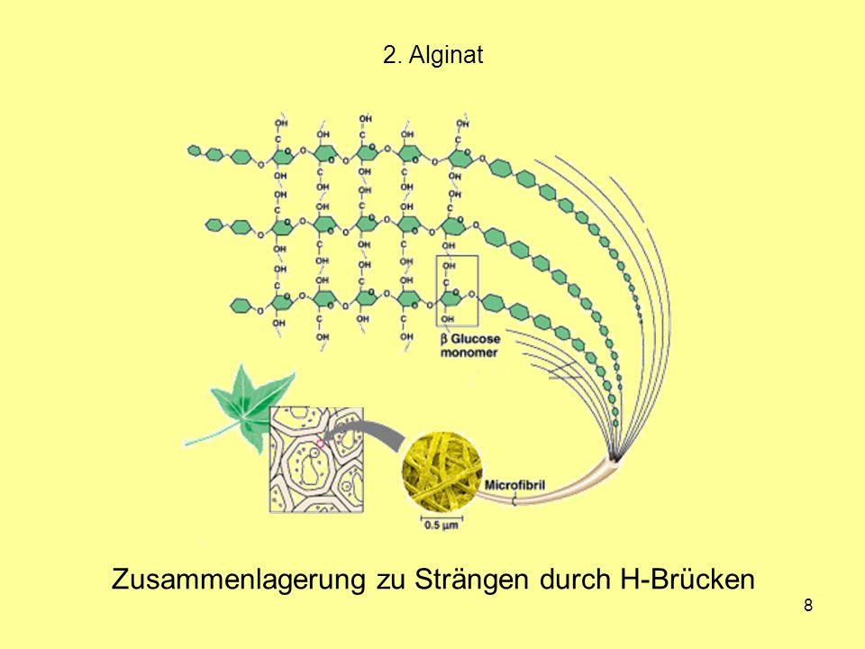 49 Aufbau Alternierende Copolymere vom Typ (AB) n Viele Carrageenan-Typen (hauptsächlich ι, κ, λ) 3.